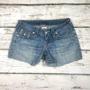 Size 24 True Religion Cut Off Shorts